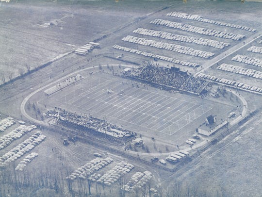 Delaware Stadium in 1955. It opened in 1952. The home,