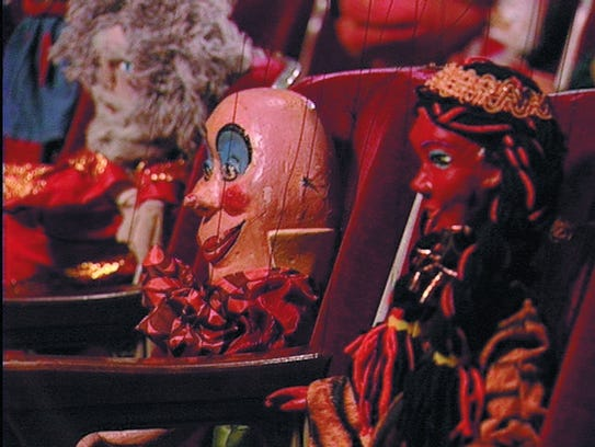 """Christian Jankowski's """"Puppet Conference"""" from 2003."""