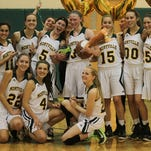 Montville's Kelly O'Reilly (3) became the all-time leading scorer for the Mustangs on Friday night.