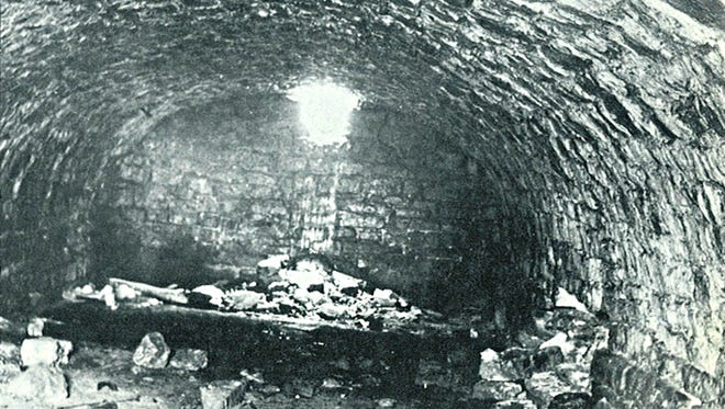 Although this moonshiner's cave was photographed many years ago, its actual location on the Ledge remains unknown. Historian J.J. Jenkins will repeat his talk about the Holyland's involvement in bootlegging and moonshining at 6 p.m. Wednesday, Sept. 23, at the Fond du Lac Public Library.