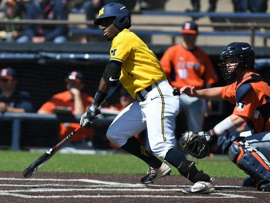 Michigan second baseman Ako Thomas' season was saved