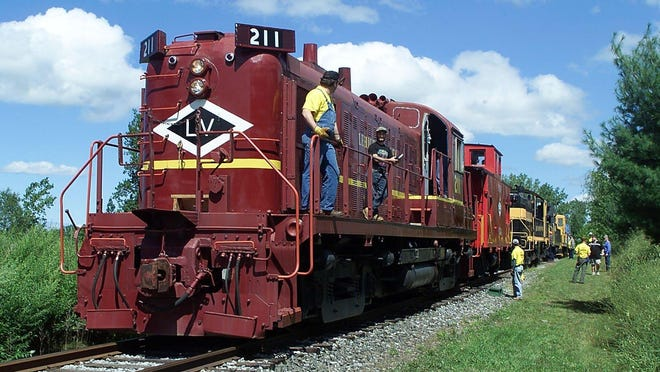 One of three diesels in the collection of the Rochester & Genesee Valley Railroad Museum.