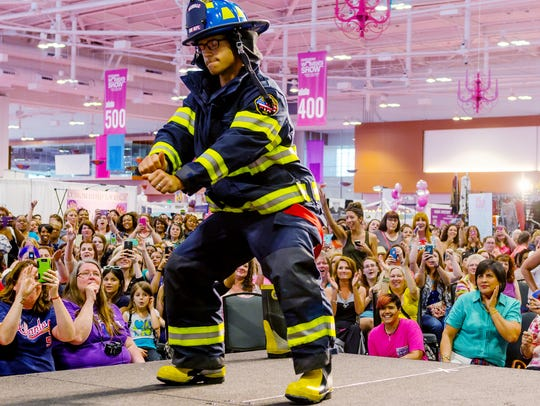 The Firefighter Fashion Show, always draws a crowd
