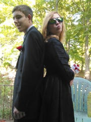 Jayce Wisenhunt and his sister, Jessica Helling, pose