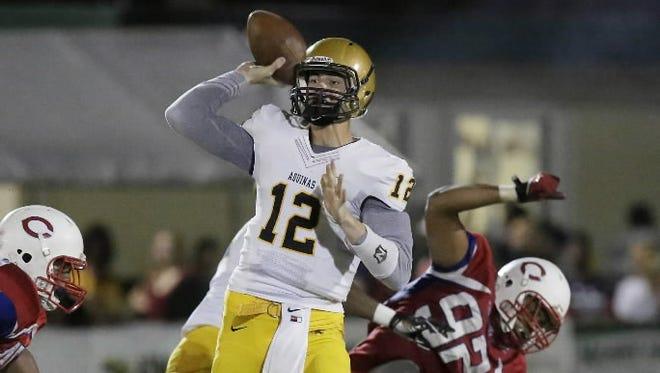 Vanderbilt freshman Wade Freebeck while playing at St. Thomas Aquinas, Fla., last season.