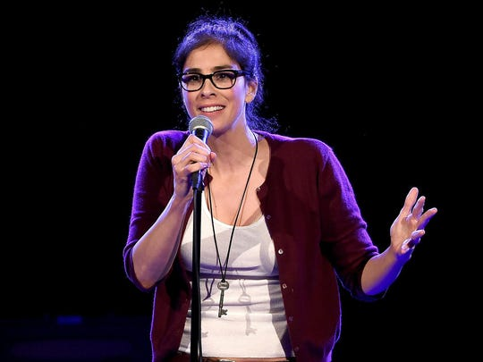 Actress/comedian Sarah Silverman performs at the Teragram Ballroom for The Post Pop Depression Tour on Wednesday, March 9 in Los Angeles.