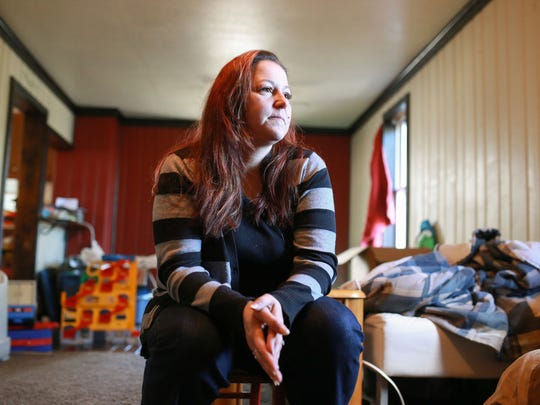 Lee Anne Walters of Flint talks about the health problems her family has faced since the city switched from getting their drinking water from Detroit to using the Flint River that has been shown to contain high levels of lead on Thursday October 1, 2015.