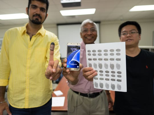 Doctoral student Sunpreet Arora wears a printed 3-D
