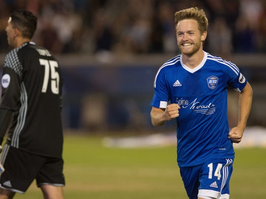 Chris Wehan is one of three Reno 1868 FC players to sign with San Jose Earthquakes.