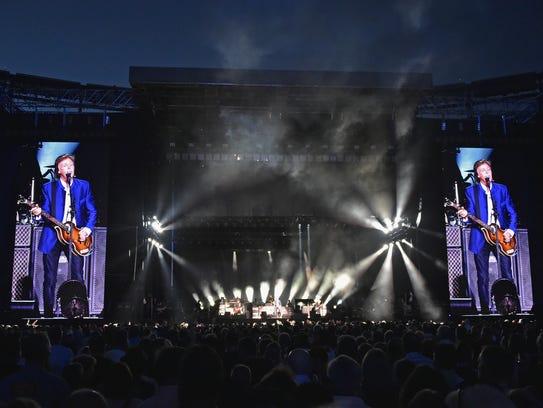 Paul McCartney performs in concert at MetLife Stadium