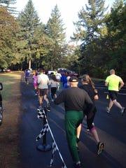Runners hit the road during the annual Jeff Silbernagel Memorial Fun Run.