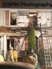 New Freedom firefighters battled a blaze at 108 N.