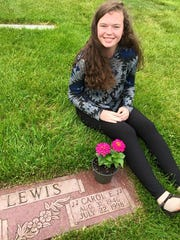 Meghan Laughman takes flowers to her grandma's grave on Mother's Day, 2015.