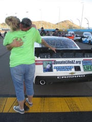 As part of the effort to raise awarness of organ and tissue donation Joey Gase's Xfinity Series car often features photos of donors.