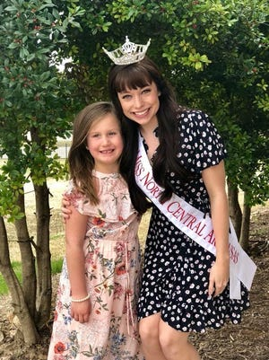 Samantha Shelley (right), Miss North Central Arkansas 2018, has chosen Allyson Rose Tilley of Mountain Home to be her Diamond State one of two Princesses for the 2018 Miss Arkansas Pageant to be held in Little Rock June 9-16.