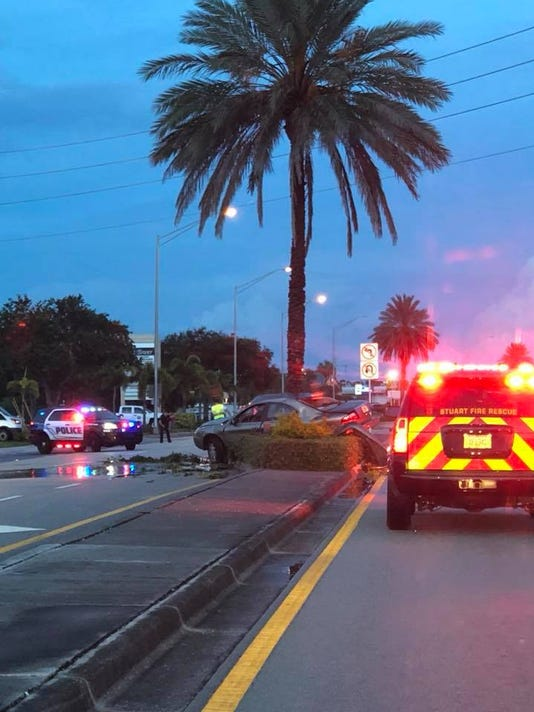 A car crash on Sunday night left a woman with serious injuries, police said.