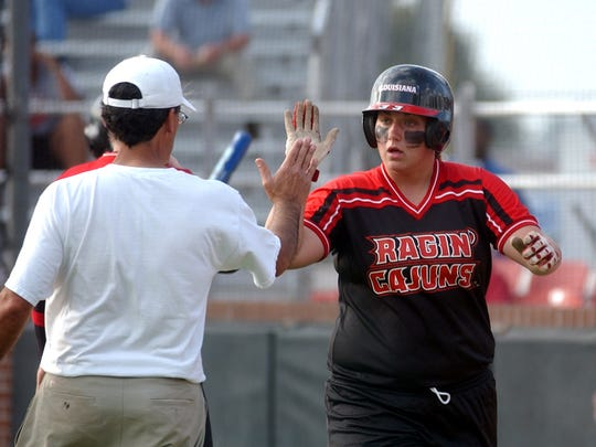 UL's Lacey Bertucci, shown here getting a high-five