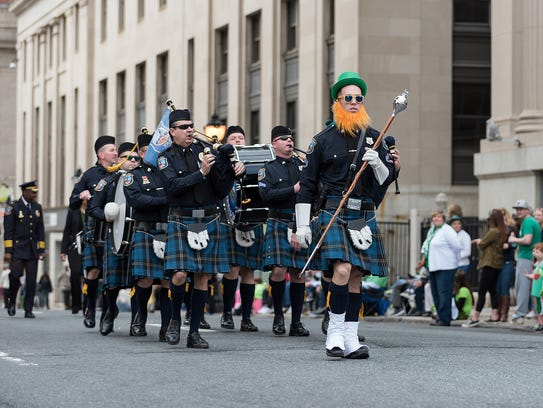 The Wilmington Police Department's pipes and drums