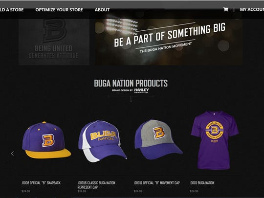 """A screen grab of the website advertising """"BUGA Nation"""""""
