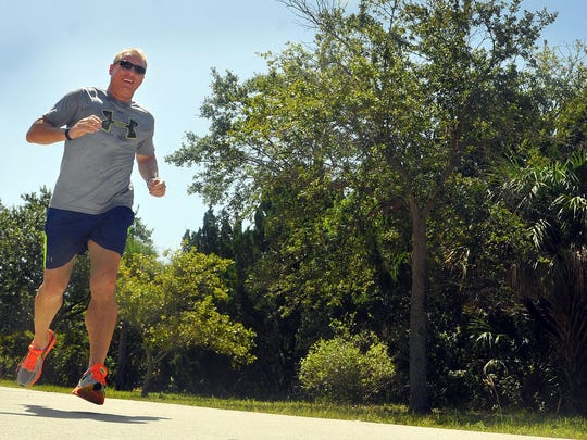 Michael Higgins of Cocoa Beach enjoys running near his home.