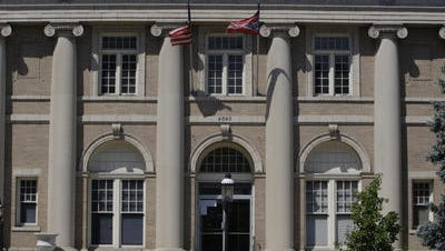 The city of Norwood Ohio municipal building at 4645 Montgomery Road.