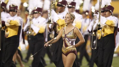 The ASU marching band will perform in the Super Bowl pre-game show Sunday and some members will play during halftime featuring Katy Perry.