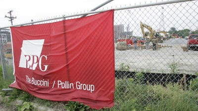 Buccini/Pollin development site. Dave Pollin, the company's co-founder, was honored by Hilton.