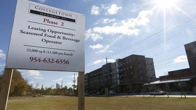 A land swap that would move along the second phase of College Town was approved by the Florida Cabinet on Tuesday.