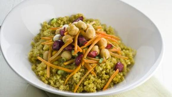 "The ROC Eat Real Food Challenge urges participants to eat whole, unprocessed ""real"" foods such as this quinoa salad."