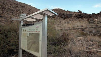 Authorities searched for a Los Angeles woman who was lost on the North Lykken Trail in Palm Springs Saturday night.