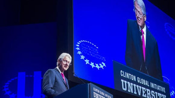 Bill Clinton, on screen and in person, at his eponymous