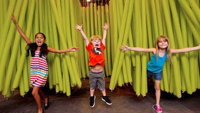 Kids can participate in themed activities and play in such areas as the noodle forest at the Children's Museum of Phoenix.