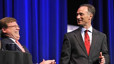 Mayoral candidates Charles Robert Bone and David Fox.