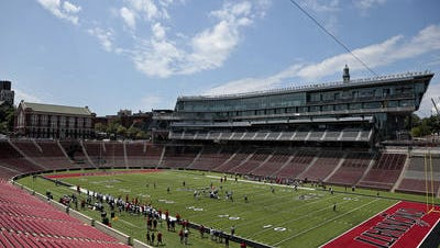 UC players got their first taste of renovated Nippert Stadium during a recent scrimmage.