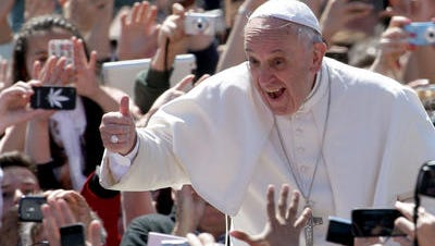 Pope Francis is right at home in crowds.