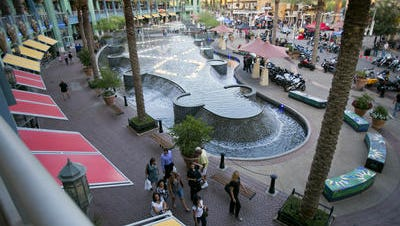 Tourists and sports fans -- but not too many tourists and sports fans -- flock to the Westgate Entertainment District