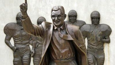The Joe Paterno statue, since removed