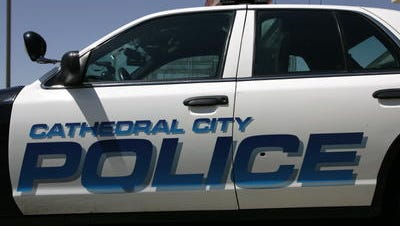 Cathedral City police officers investigated a collision involving a bicyclist Saturday. A 57-year-old man died after being hit on Ramon Road.