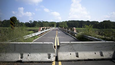 The Rancocas Creek Bridge, closed since April, will be taken down due to structural problems.