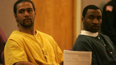 Joshua Simmons, left, and Kalil Griffin, right, in Superior Court in Freehold in 2011