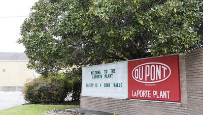 DuPont's plant in LaPorte, Texas, where four workers were killed in November, is shown.