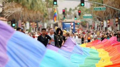 The Greater Palm Springs Pride Festival comes a week after a hate crime involving two gay residents. Police say the attack was random and won't affect security at this year's event.
