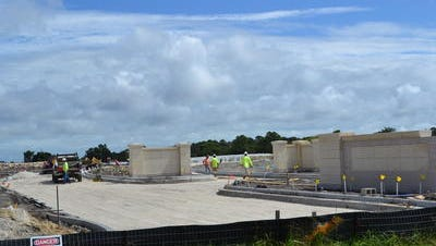 Construction of Cape Canaveral National Cemetery has advanced in recent weeks.