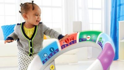 Bright Beats Smart Touch Play Space: Teaches babies counting, numbers and ABCs with song, dance and moving lights. Retails for about $60.