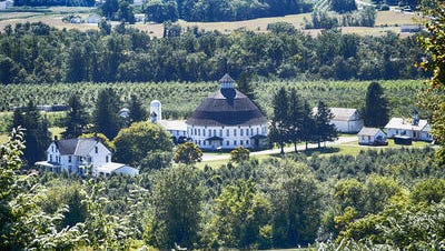The Round Barn from Hauser Estate Winery