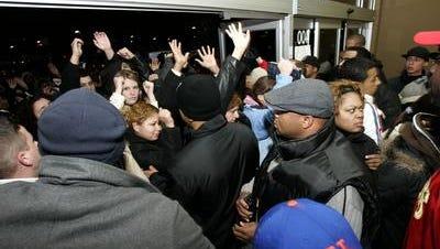 Black Friday shoppers at Wal-Mart.