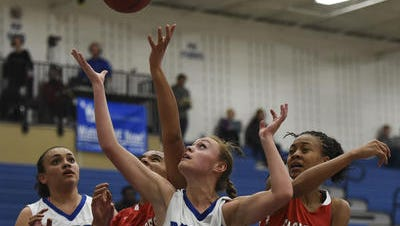 Poudre's Cecelia Berkner, shown in a file photo, scored 15 points in the Impalas 42-40 win over Longmont on Thursday.
