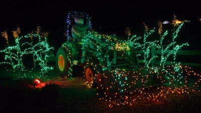 The Garden of Lights holiday display at the Gardens on Spring Creek runs nightly through Jan. 4.