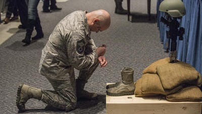 A memorial service in honor of Special Agent Chester J. McBride was held at Maxwell Air Force Base on Jan. 13, 2016. McBride was killed in action in Afghanistan on Dec. 21, 2015.