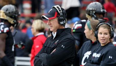 Coach Tommy Tuberville and his University of Cincinnati football assistants have been out recruiting, with the signing date coming in early February.
